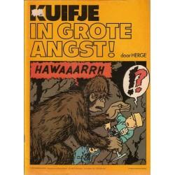 Kuifje reclamealbum Chevron 3 In grote angst 1e druk 1977