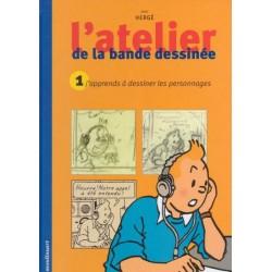 Herge (Kuifje) portfolio l'Atelier de la bande dessinee 01 HC 2000 Franstalig