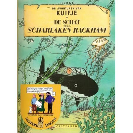 Kuifje Verkoopakte kasteel Molensloot + album De schat van Scharlaken Rackham met sticker 1985