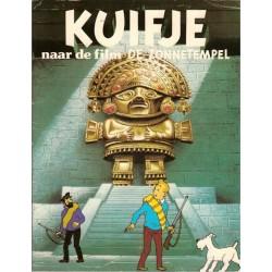 Kuifje filmalbum De Zonnetempel 1e druk 1976 met poster