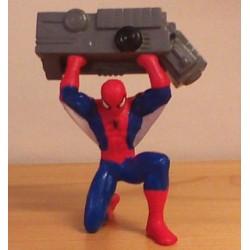 Superhelden poppetje Spiderman gooit zwaar ding z.j.