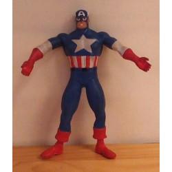 Superhelden poppetje Captain America buigpoppetje 1992