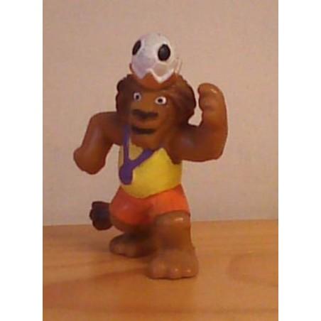 Dieren met voetbal poppetje Leeuw 1981