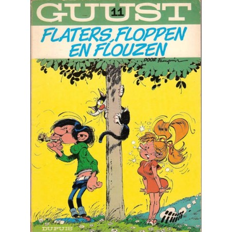 Guust Flater I 11 Flaters, floppen en flouzen herdruk (bed geel)