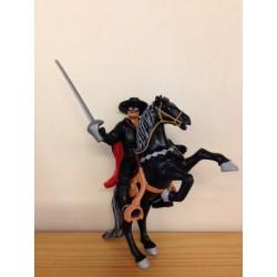 Superhelden poppetje Zorro te paard 1992 (2 poppetjes)