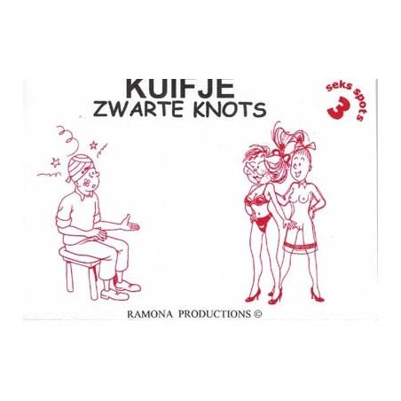 Kuifje/Suske & Wiske parodie Seks spots 3 Zwarte knots 1e druk