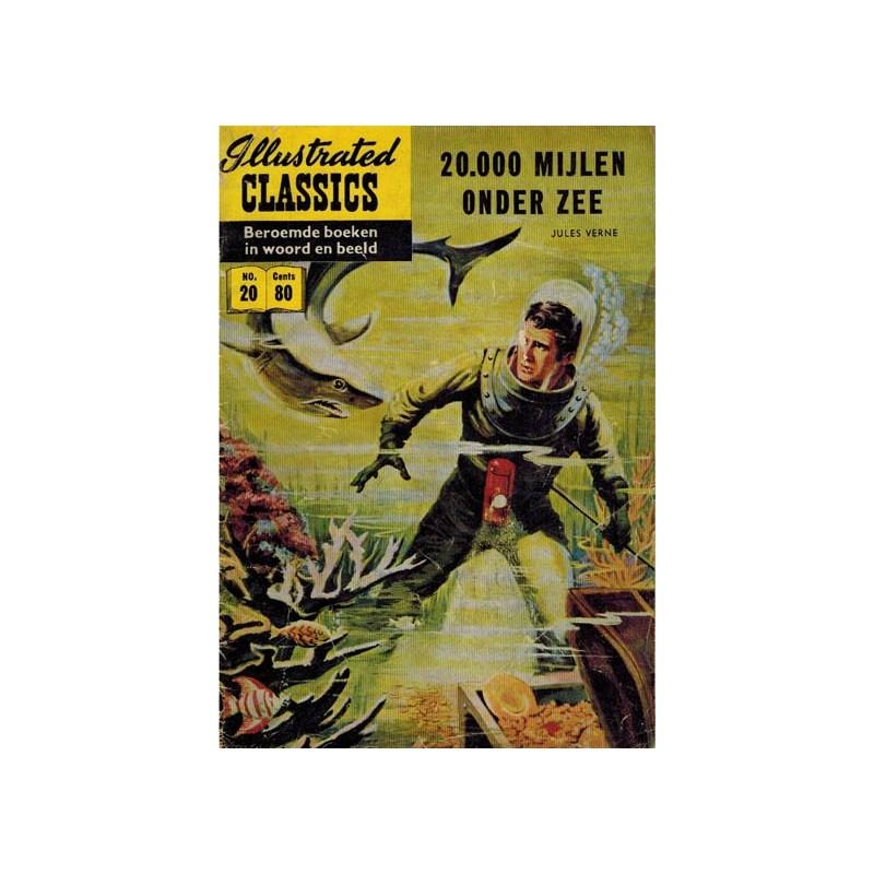 Illustrated Classics 020 20000 Mijlen Onder Zee 1e Druk 1956 Naar