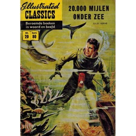 Illustrated Classics 020 20.000 Mijlen onder zee 1e druk 1956 (naar Jules Verne)