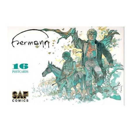 Hermann postcards set 2003 mapje met 16 postkaarten: afbeeldingen van Jeremiah, Comanche...