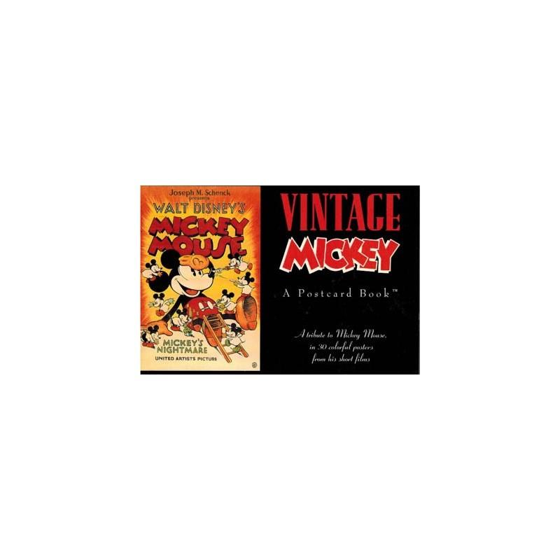 Disney Postcard book Vintage Mickey Mouse (30 postkaarten in boekje) 1991