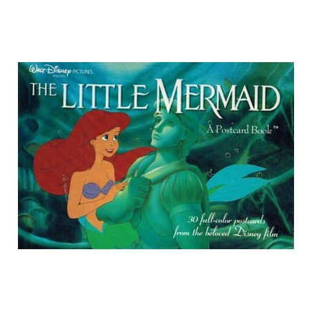 Disney Postcard book Little mermaid (30 postkaarten in boekje) 1991