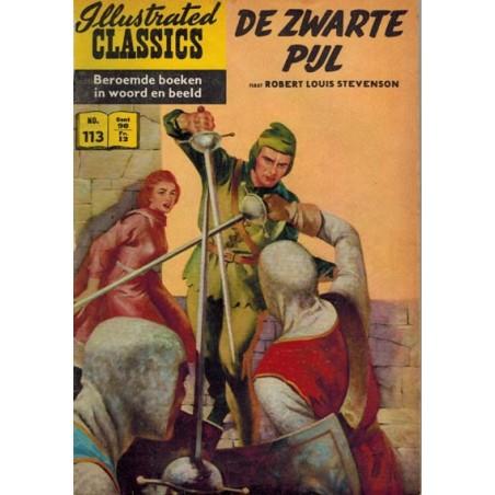 Illustrated Classics 113% De zwarte pijl (naar R.L. Stevenson) 1e druk 1960