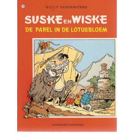 Suske & Wiske 214 De parel in de lotusbloem 1e druk rode reeks 1988