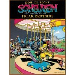 Fabulous Freak Brothers Door de bocht met de vermaarde behaarde Freak brothers 1e druk 1981