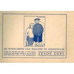 Bulletje en Bonestaak setje De wereldreis deel 1 t/m 6 herdrukken 1928-1929