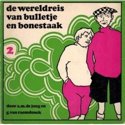 Bulletje en Bonestaak pocket setje De wereldreis deel 1 t/m 5 herdrukken 1968-1974