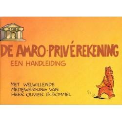 Tom Poes reclame-album De Amro-priverekening Een handleiding met welwillende medewerking van Olivier B. Bommel 1e druk 1974