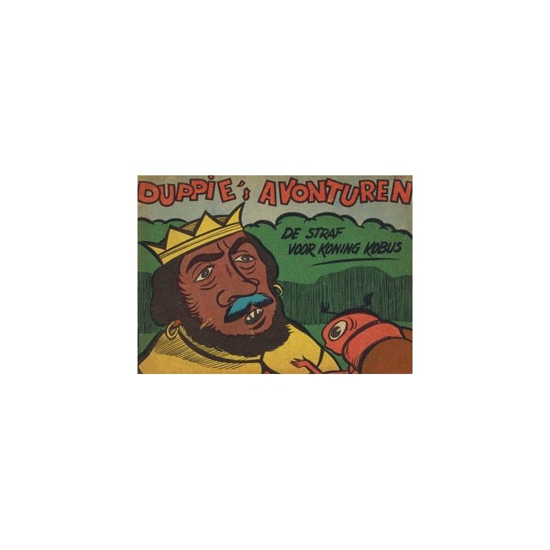 Duppie's avonturen De straf voor koning Kobus 1e druk 1962 (reclame-album NGV kruidenier)