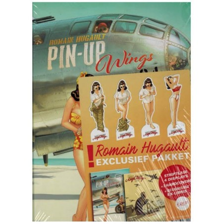 Angel Wings 03 / Pin Up Wings 04 HC pakket met 4 striptease displays & gesigneerd ex-libris