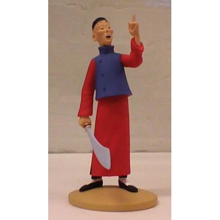 Kuifje  beeldje Didi Chinees met zwaard (Blauwe lotus pag. 13)