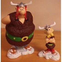Asterix  beeldje set Asterix en Obelix als Noormannen