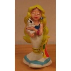 Asterix poppetje Walhalla met Idefix 1997