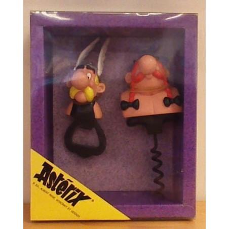 Asterix poppetje set Kurkentrekker en flessenopener 1991