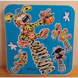 Guust Flater sticker Marsupilami springt