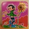 Guust Flater sticker Guust met zonnebloem