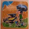 Guust Flater sticker Guust in de regen