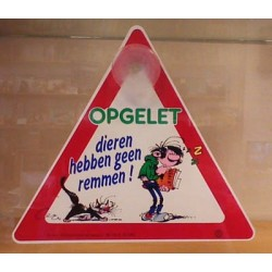 Guust Flater autoruit hanger 8 Opgelet Dieren hebben geen remmen! 1991
