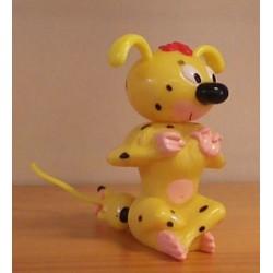 Marsupilami poppetjes Quick Marsupilami vrouwtje plus kleintje trekpop 2001