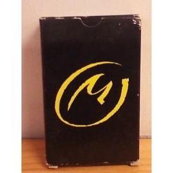 Blake & Mortimer kaartenspel pak speelkaarten met Het gele teken op zwart font als achterkanten