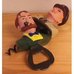 Blake & Mortimer poppetjes set Flesopener en kurkentrekker