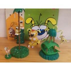 Marsupilami poppetjes Quick set 4 figuurtjes met kartonnen magicbox 2001