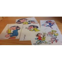 Guust Flater kaartensetje z.j. Illegaal