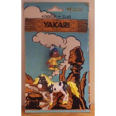 Yakari poppetjes setje Yakari en paard z.j.