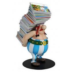 Asterix  beeld PL124 Obelix met stapel stripboeken