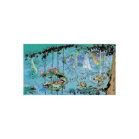 Guust Flater  poster  01 Guust slaapt in het nest van de Mar