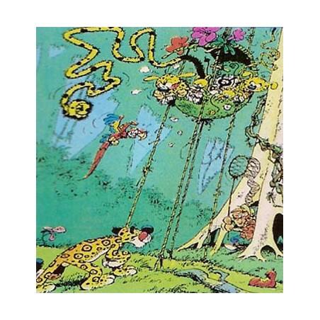 Marsupilami  poster 06 Een panter besluipt het nest