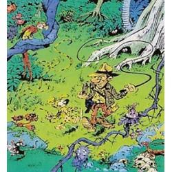 Marsupilami<br>poster 05 - Marsupilami wandelt met de jager