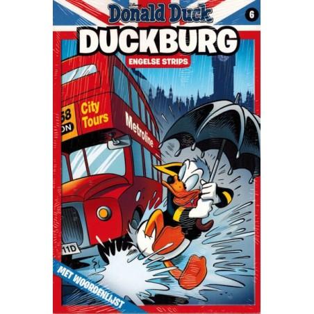 Donald Duck  Duckburg pocket 06 Engelse strips met woordenlijst