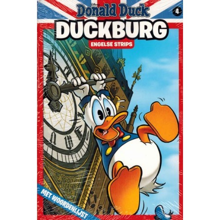 Donald Duck  Duckburg pocket 04 Engelse strips met woordenlijst