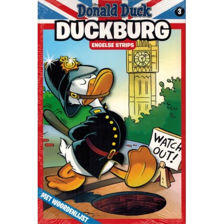 Donald Duck  Duckburg pocket 03 Engelse strips met woordenlijst