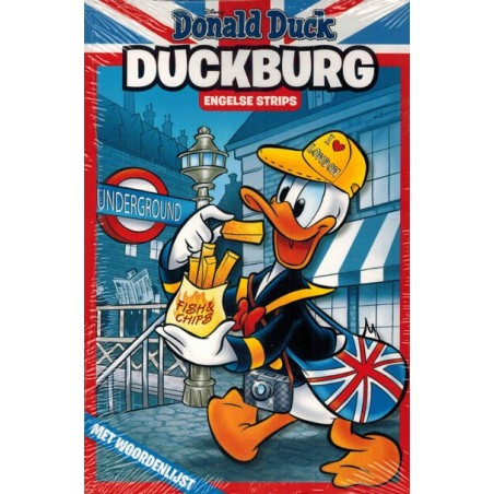 Donald Duck  Duckburg pocket 01 Engelse strips met woordenlijst