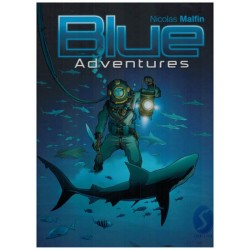 Blue adventures 01 HC (illustratieboek van de tekenaar van Golden City)