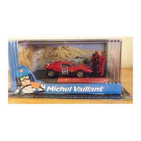 Michel Vaillant autootje Marathon (rode nr. 13 + 4 poppetjes)