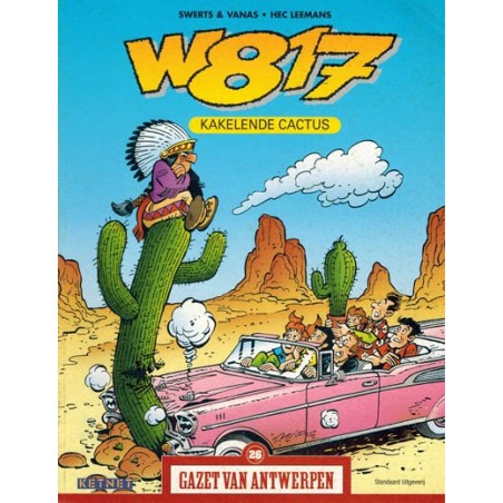 Gazet van Antwerpen reclame-album 26 W817 kakelende cactus 1e druk 2004