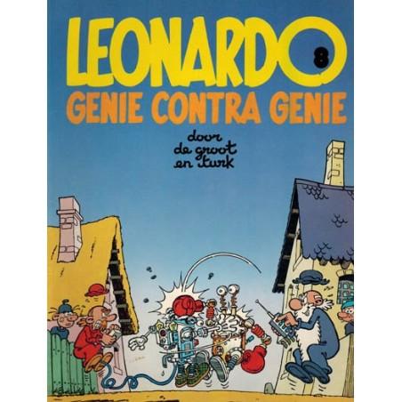 Leonardo 08 Genie contra genie 1e druk 1986