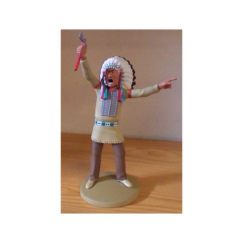 Kuifje  beeldje Indiaan Taupe au regard percant (Amerika pag. 20)